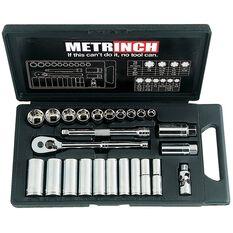 METRINCH 3/8IN DRIVE 25PC SOCKET SET