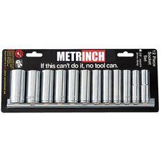 METRINCH DEEP SOCKET SET 3/8IN DR 12PC