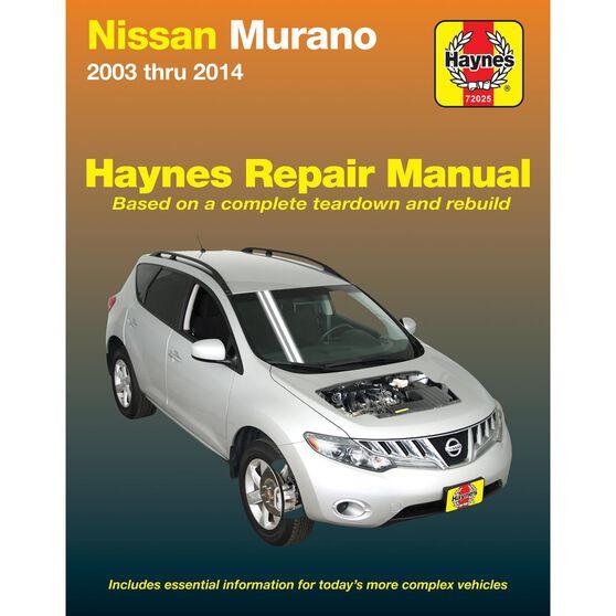 NISSAN MURANO HAYNES REPAIR MANUAL FOR 2003 THRU 2014, , scaau_hi-res