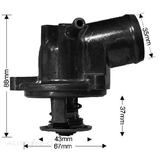 THERMOSTAT HOUSING 89C BOXED, , scaau_hi-res