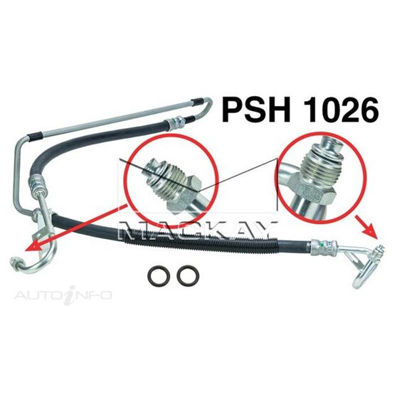 Power Steering Hose - Pressure - Holden Commodore VY, WK (3.8L V6 LN3) Suits Non S/C V6 with Automatic Transmission, , scaau_hi-res
