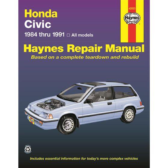 HONDA CIVIC, CIVIC SI, AND CIVIC WAGON HAYNES REPAIR MANUAL COVERING 1984 THRU 1991 MODELS, , scaau_hi-res