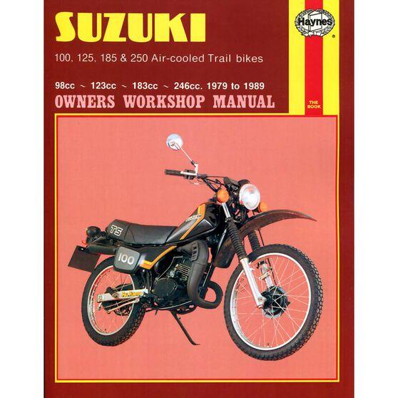 SUZUKI 100, 125, 185 & 250 AIR-COOLED TRAIL BIKES 1979 - 1989, , scaau_hi-res