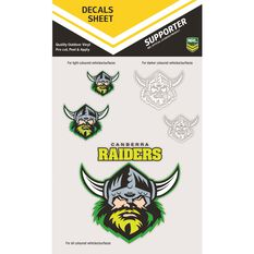 RAIDERS ITAG DECALS SHEET (CLEAR VINYL)
