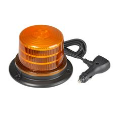 LED BEACON 10-30V AMBER MAGNETIC 94MM H X 143MM 12V ACC SOCKET