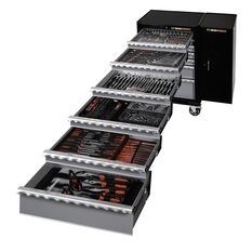 TOOL SET 287PC - 7 DRAWER ROLLER CABINET + XL SIDE CABINET + 285PC TOOL SET