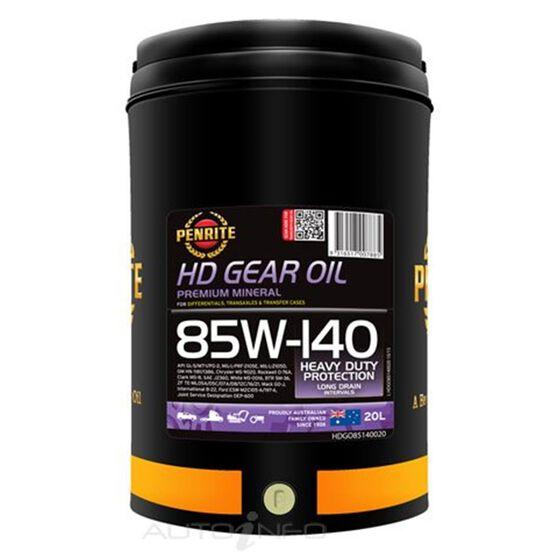 1 X HD GEAR OIL 85W140 20L, , scaau_hi-res