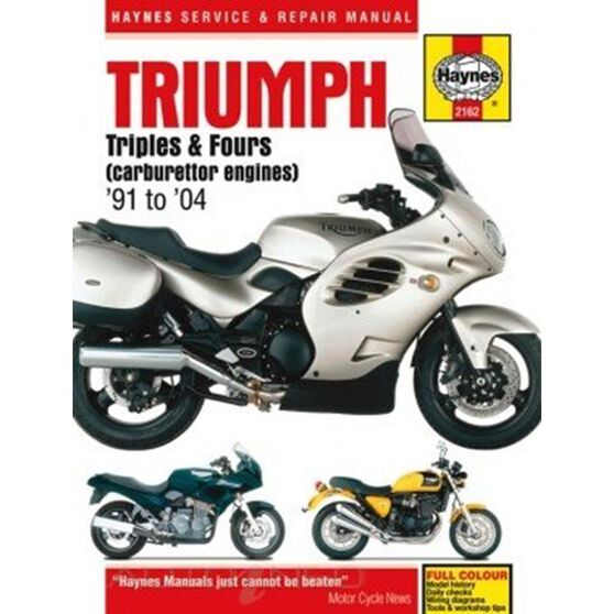 TRIUMPH TRIPLES AND FOURS (CARBURETTOR ENGINES) 1991 - 2004, , scaau_hi-res