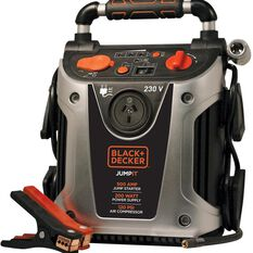 BLACK & DECKER 12V 900 AMP JUMP STARTER W/AIR COMPESSOR & MSW POWER INVERTER - VG11AU