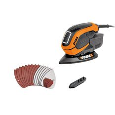WORX 65W D-TAIL PALM SANDER COMPLETE WITH CARRY BAG, , scaau_hi-res