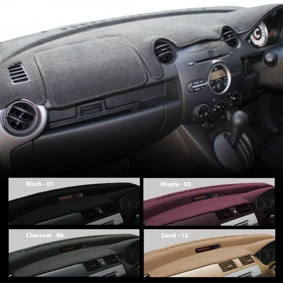 DASHMAT - BLACK INCLS AIRBAG FLAP MADE TO ORDER (MIN 21 DAYS DELIVERY) SUITS TOYOTA, , scaau_hi-res