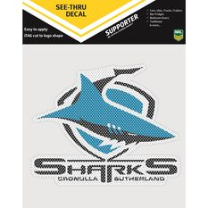 SHARKS ITAG SEE-THRU DECAL