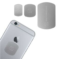 REPLACEMENT COLOUR MATCH MAGICMOUNT PLATES FOR IPHONE 6 & 6 PLUS (SILVER)