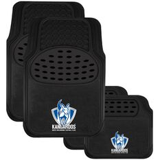 AFL CAR MATS SET OF 4 KANGAROOS, , scaau_hi-res