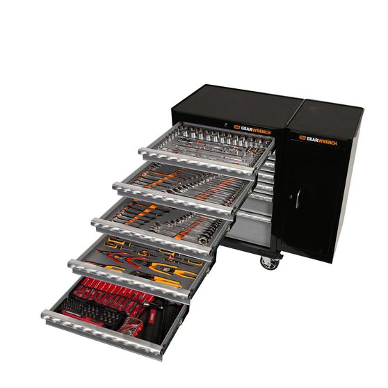 """271 PC COMBINATION TOOL KIT + 26"""" TOOL TROLLEY WITH SIDE CABINET, , scaau_hi-res"""