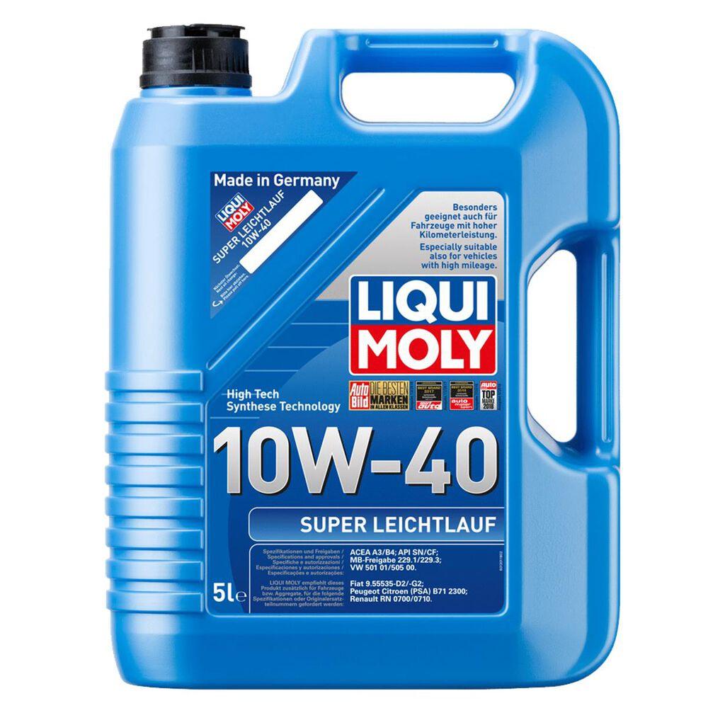 liqui moly super leichtlauf full synthetic engine oil 10w 40 5 litres supercheap auto. Black Bedroom Furniture Sets. Home Design Ideas