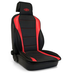 SAAS Seat Sports Cushion Pu Blk-Red Large With Logo, , scaau_hi-res