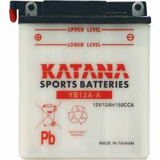 KATANA MOTORCYCLE BATTERY - YB12A-A, , scaau_hi-res