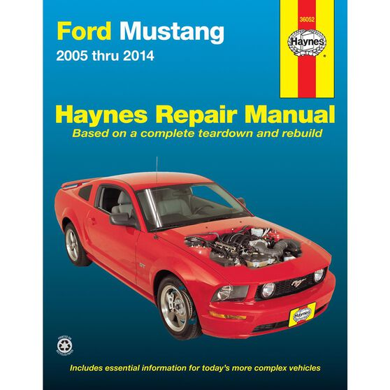 FORD MUSTANG HAYNES REPAIR MANUAL FOR 2005 THRU 2014 (DOES NOT INCLUDE INFORMATION SPECIFIC TO SHELBY GT500 COBRA MODELS), , scaau_hi-res