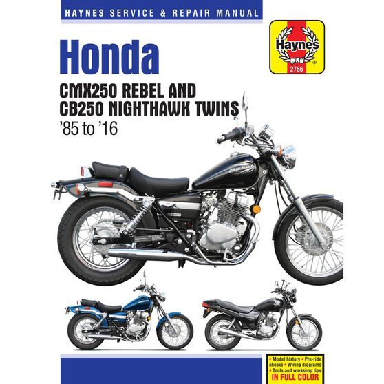 HONDA CMX250 REBEL AND CB250 NIGHTHAWK TWINS 1985 - 2009, , scaau_hi-res