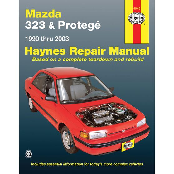 MAZDA 323 AND PROTEGE HAYNES REPAIR MANUAL COVERING ALL MAZDA 323 AND PROTEGE (1990 THRU 2003) (DOES NOT INCLUDE INFORMATION SPECIFIC TO 4WD OR TURBOCHARGED MODELS), , scaau_hi-res