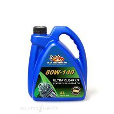 CARTON QTY 4 ULTRA CLEAR GEAR OIL FULL SYN LS 80W-140 4L, , scaau_hi-res