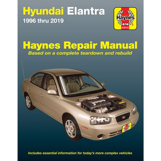 HYUNDAI ELANTRA HAYNES REPAIR MANUAL COVERING ALL MODELS 1996 THRU 2013 (DOES NOT INCLUDE INFORMATION SPECIFIC TO HYBRID ENGINE MODELS), , scaau_hi-res