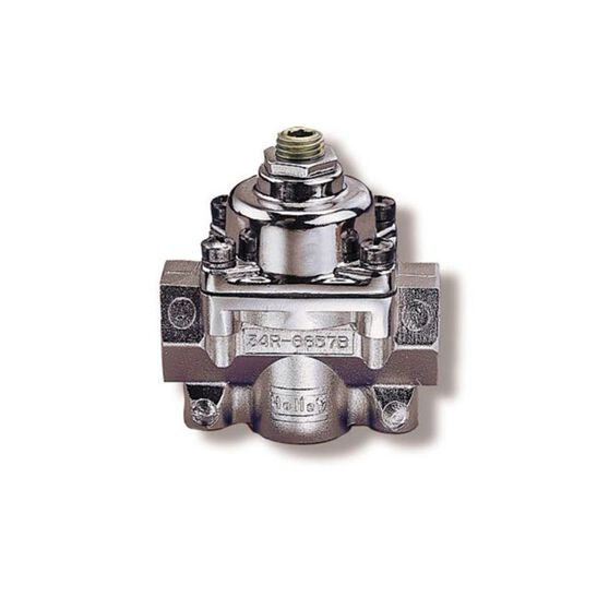 HOLLEY BLUE REGULATOR 4.5-9PSI 1 IN, 2 OUT (3/8 NPT), , scaau_hi-res