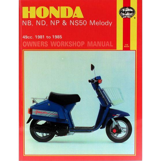 HONDA NB, ND, NP & NS50 MELODY 1981 - 1985, , scaau_hi-res