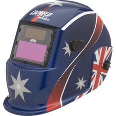 WELDSKILL AUTO-DARKENING WELDING HELMET VARIABLE SHADE 9-13 OZ FLAG