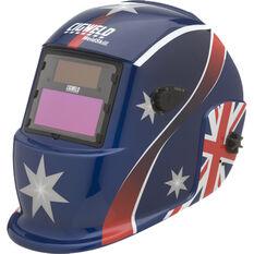 Weldskill Auto-Darkening Welding Helmet Variable Shade 9-13 Oz Flag