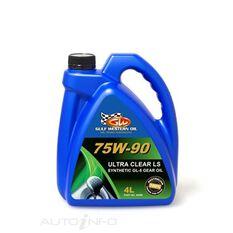 CARTON QTY 4 ULTRA CLEAR GEAR OIL FULL SYN LS 75W-90 4L, , scaau_hi-res