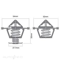 TRIDON THERMOSTAT PAIR (HIGH FLOW)
