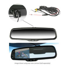 """OEM-STYLE REPLACEMENT MIRROR WITH 4.3"""" REVERSING MONITOR"""