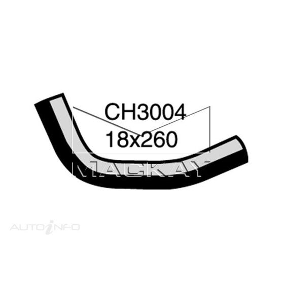 Heater Hose  - DAEWOO NUBIRA J100, J150 - 1.6L I4  PETROL - Manual & Auto, , scaau_hi-res