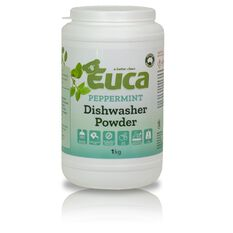 EUCA DISHWASHER POWDER PEPPERMINT 1KG, , scaau_hi-res
