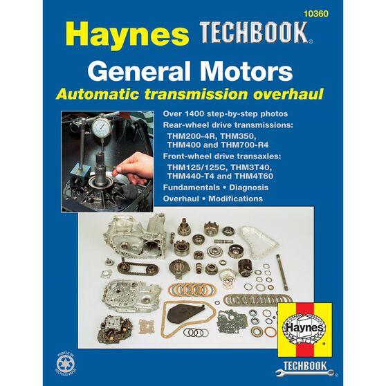 GENERAL MOTORS AUTOMATIC TRANSMISSION OVERHAUL HAYNES TECHBOOK, , scaau_hi-res
