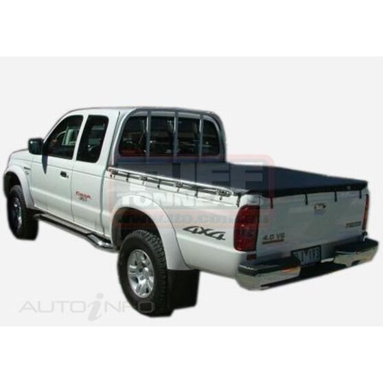 COURIER SUPER CAB WITHOUT FACTORY SPORTS BARS, HEADBOARD BUNJI UTE TONNEAU COVER, , scaau_hi-res