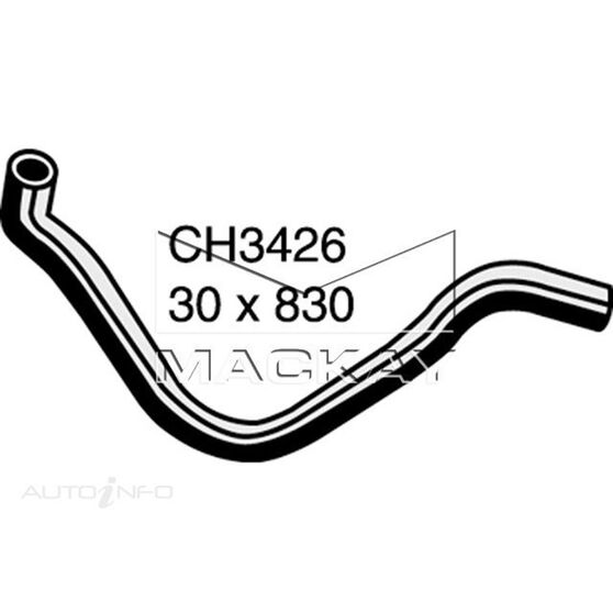 Radiator Lower Hose  - HONDA CRX EG - 1.6L I4  PETROL - Manual & Auto, , scaau_hi-res