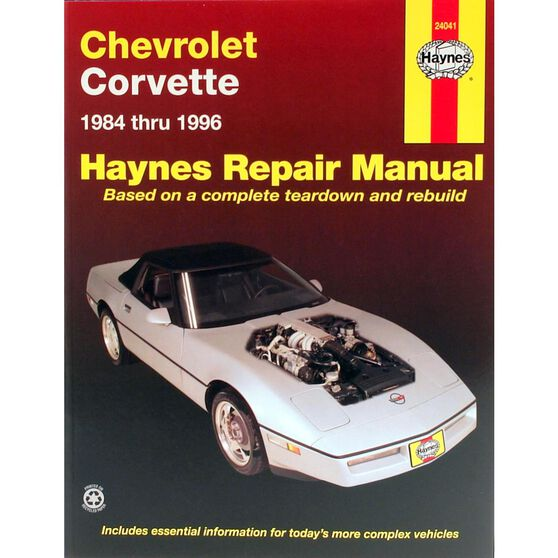 CHEVROLET CORVETTE HAYNES REPAIR MANUAL FOR 1984 THRU 1996, DOES NOT INCLUDE INFORMATION SPECIFIC TO ZR-1 MODELS., , scaau_hi-res