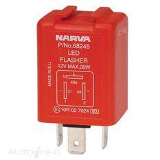 ELEC FLASHER 12V 3 PIN LED BL, , scaau_hi-res