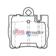 DBA SS STREET SERIES BRAKE PADS [ Mercedes Benz S Class 1998 - 2013 & On R ], , scaau_hi-res