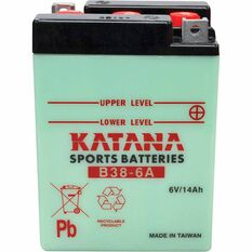 KATANA MOTORCYCLE BATTERY - B38-6A, , scaau_hi-res