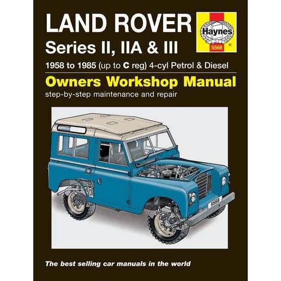 LAND ROVER SERIES II, IIA & III PETROL & DIESEL (1958 - 1985), , scaau_hi-res