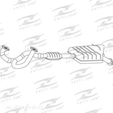 HYUNDAI SANTA FE 2.7L V6 MK.1 11/00 - 04/06 FRONT PIPE & CAT - DOES NOT INCLUDE CENTRE MUFFLER, , scaau_hi-res