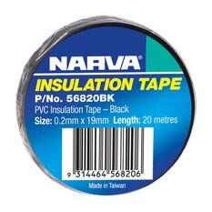 PVC TAPE 20M BLACK .2MM X 19MM, , scaau_hi-res
