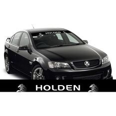 HOLDEN ITAG SUN VISOR (WHITE HOLDEN ON BLACK WITH RONDEL WATERMARKS)