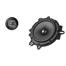"COMPONENT SPEAKERS  2 WAY 6.5"" 350W MAX, 80W NOMINAL INPUT (INC ADAPTOR PLATES)"
