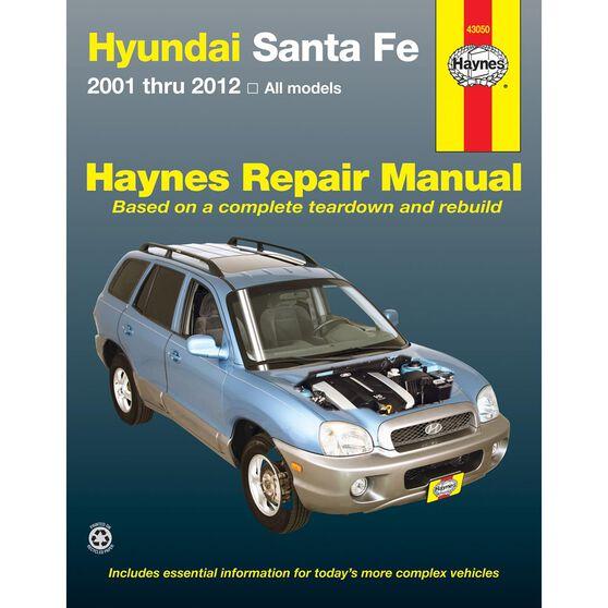 HYUNDAI SANTE FE HAYNES REPAIR MANUAL COVERING ALL MODELS FROM 2001 THROUGH 2012, , scaau_hi-res