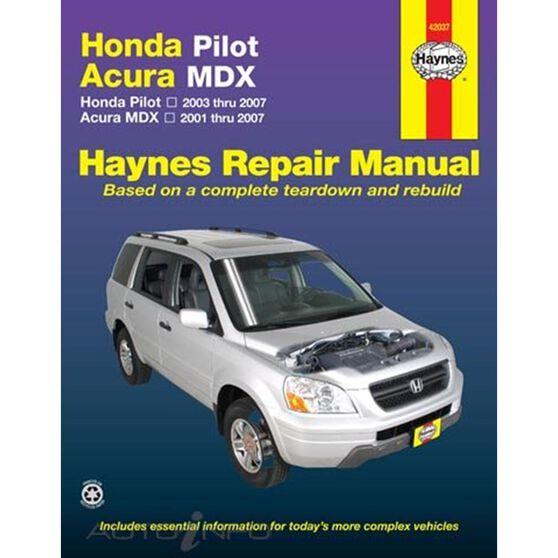 HONDA PILOT (2003 THRU 2008), RIDGELINE (2006 THRU 2014) AND ACURA MDX (2001 THRU 2007) HAYNES REPAIR MANUAL, , scaau_hi-res